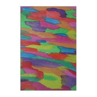 Regenbogen-Strudelwatercolor-abstrakter Acryl Wandkunst