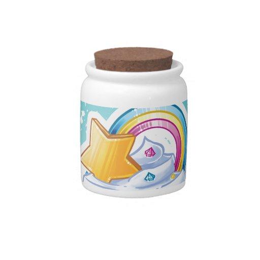 Regenbogen-Süßigkeitsglas Keksdosen
