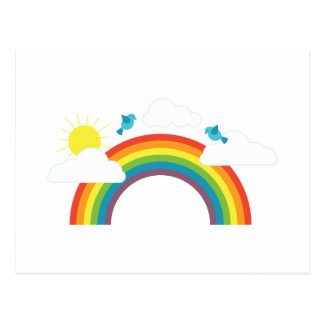 Regenbogen-Szene Postkarte