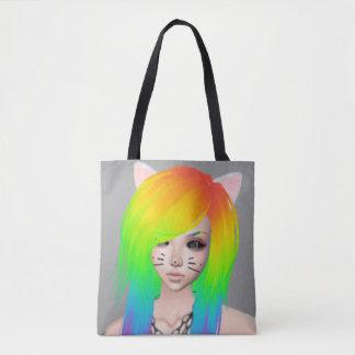 Regenbogen-Szenen-Königin ganz über Druck-Tasche Tasche