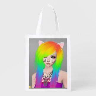 Regenbogen-Szenen-Königinbudget-Tasche Wiederverwendbare Einkaufstasche