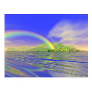 Regenbogen-Tag Postkarte