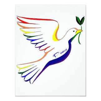 Regenbogen-Taube 10,8 X 14 Cm Einladungskarte
