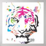 Regenbogen-Tiger Plakatdrucke
