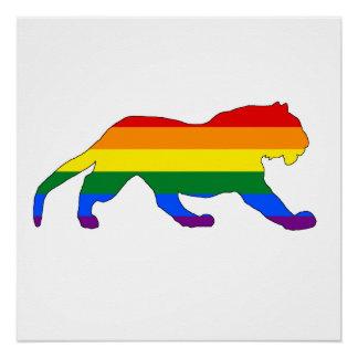 Regenbogen-Tiger Poster