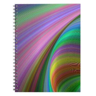 Regenbogen-Traum Spiral Notizblock