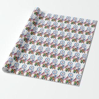 Regenbogen-Traumfänger des Aquarells herrlicher Geschenkpapier