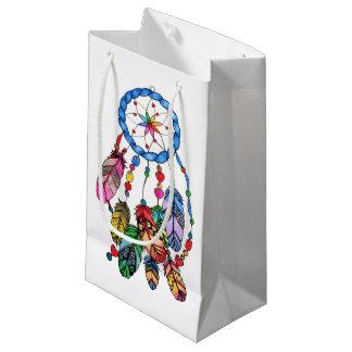 Regenbogen-Traumfänger des Aquarells herrlicher Kleine Geschenktüte