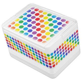 Regenbogen-Tupfen Igloo Kühlbox