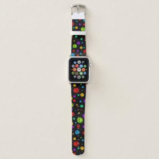 Regenbogen-Tupfen-smiley Apple Watch Armband