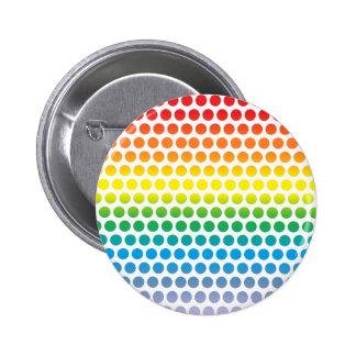 Regenbogen-Tupfen weiß Buttons