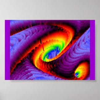 Regenbogen-Turbulenz Poster