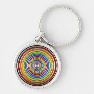 Regenbogen-Turbulenz Schlüsselanhänger