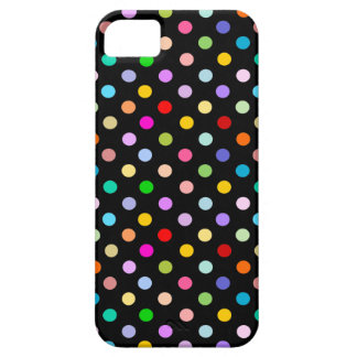 Regenbogen u. schwarzes Tupfenmuster Schutzhülle Fürs iPhone 5