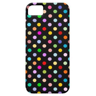 Regenbogen u. schwarzes Tupfenmuster iPhone 5 Etuis