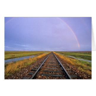 Regenbogen über Bahnstrecken nähern sich Fairfield Karte