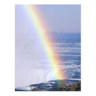 Regenbogen über Niagara Falls, New York Postkarte