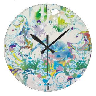 Regenbogen-Uhr Große Wanduhr
