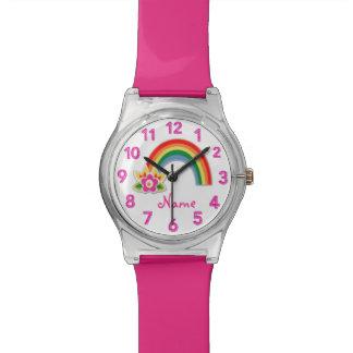 Regenbogen-Uhr-personalisierte Uhren für Mädchen