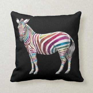 Regenbogen und Zebras Kissen
