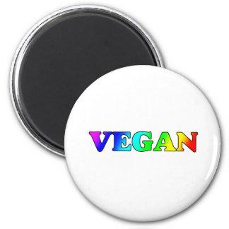 Regenbogen vegan kühlschrankmagnete