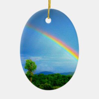 Regenbogen-Verzierung Keramik Ornament