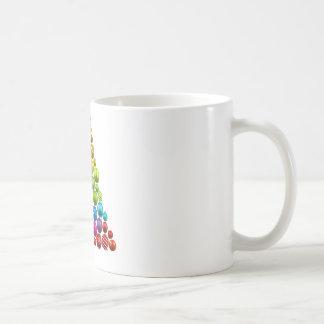 Regenbogen-Verzierungs-Weihnachtsbaum Kaffeetasse