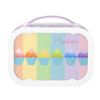 Regenbogen von Ombré kleinen Kuchen personalisiert Brotdose