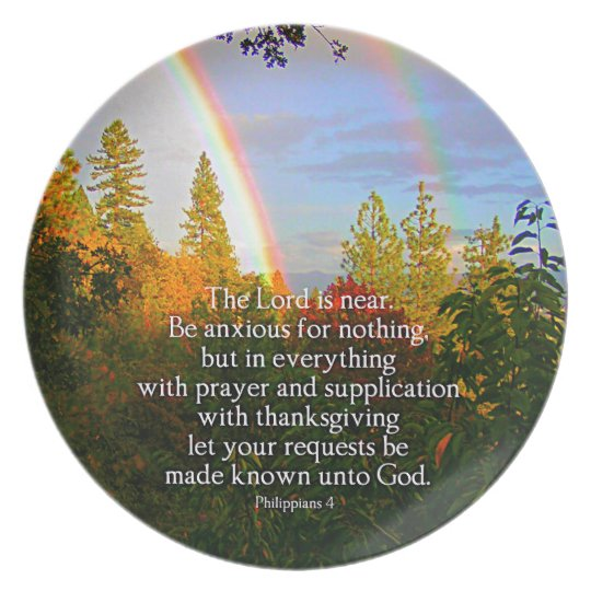 Regenbogen-Waldchristlicher Scripture-Bibel-Vers Melaminteller