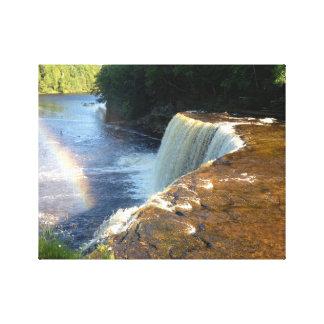 Regenbogen-Wasserfall-Foto-Leinwand-Kunst-Druck Leinwanddruck