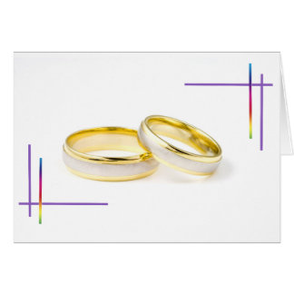 Regenbogen-Wedding freier Raum Karten
