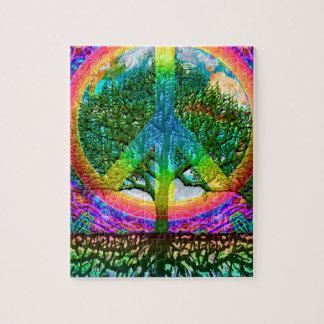 Regenbogen-Weltfriedenspuzzlespiel Puzzle
