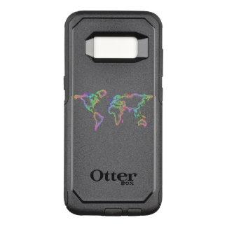 Regenbogen-Weltkarte OtterBox Commuter Samsung Galaxy S8 Hülle