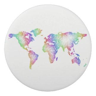 Regenbogen-Weltkarte Radiergummi 1