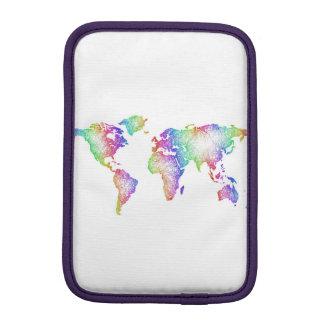 Regenbogen-Weltkarte Sleeve Für iPad Mini