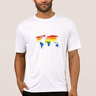 Regenbogen-Weltt-stück T-Shirt