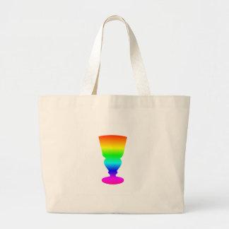 Regenbogen-Wermut-Glas Jumbo Stoffbeutel