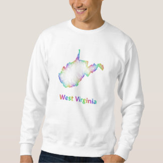 Regenbogen-West- Virginiakarte Sweatshirt