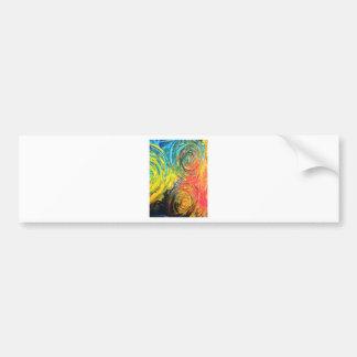 Regenbogen windt sich abstrakte Malerei Autoaufkleber