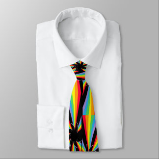 Regenbogen windt sich Rad Bedruckte Krawatte
