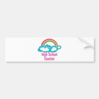 Regenbogen-Wolken-hoher Schullehrer Autoaufkleber