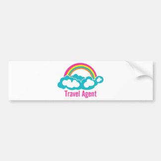 Regenbogen-Wolken-Reise-Agent Autoaufkleber