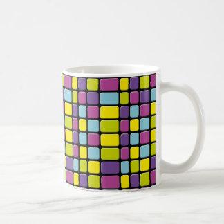 Regenbogen-Würfel Kaffeetasse