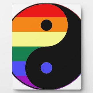 Regenbogen Yin und Yang - LGBT Fotoplatte