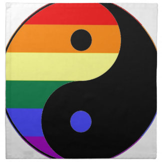 Regenbogen Yin und Yang - LGBT Serviette