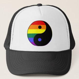 Regenbogen Yin und Yang - LGBT Truckerkappe