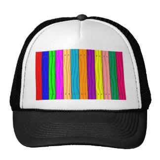 Regenbogen-Zaun Baseball Mützen