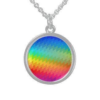 Regenbogen Zickzack Sterlingsilber Halsketten