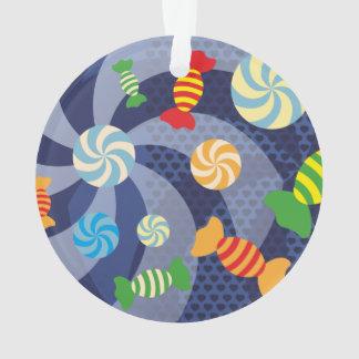 Regenbogen-Zuckerzerstampfung - bunte Süßigkeiten Ornament