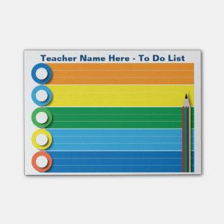 Regenbogen, zum der Liste zu tun - personalisierte Post-it Klebezettel